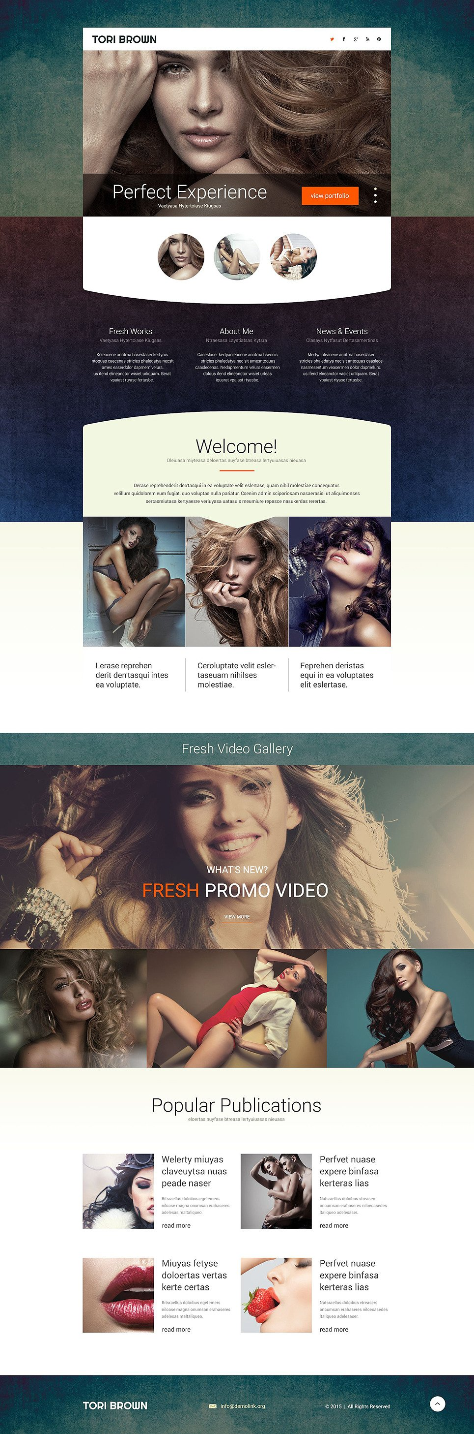 Model Agency Responsive Landing Page Template New Screenshots BIG