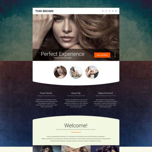 Tori Brown - Responsive Landing Page Template