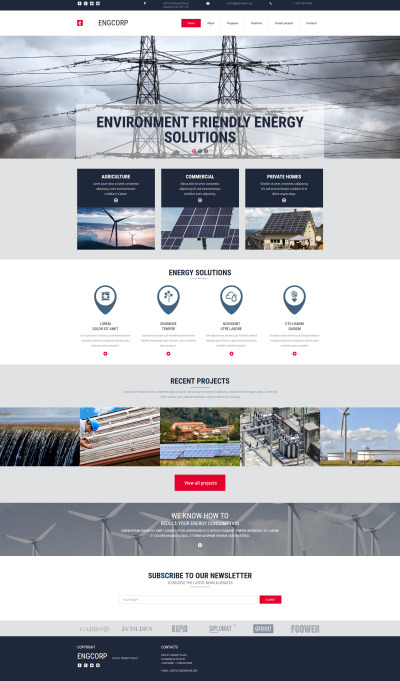 Alternative Power Responsive Tema Moto CMS 3