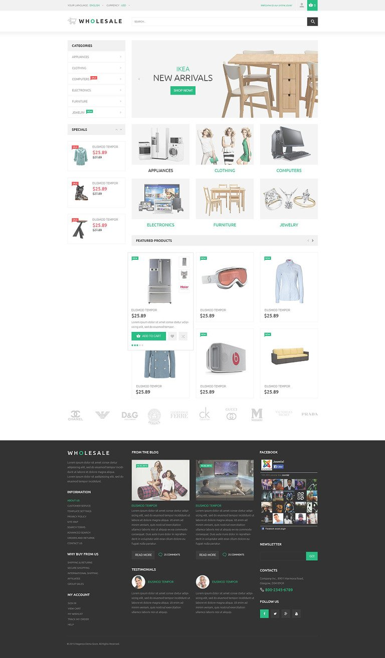 Online Warehouse Magento Theme New Screenshots BIG