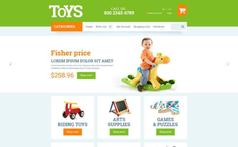 82f381f32306 OpenCart шаблон #53743 на тему детские игрушки от TemplateMonster