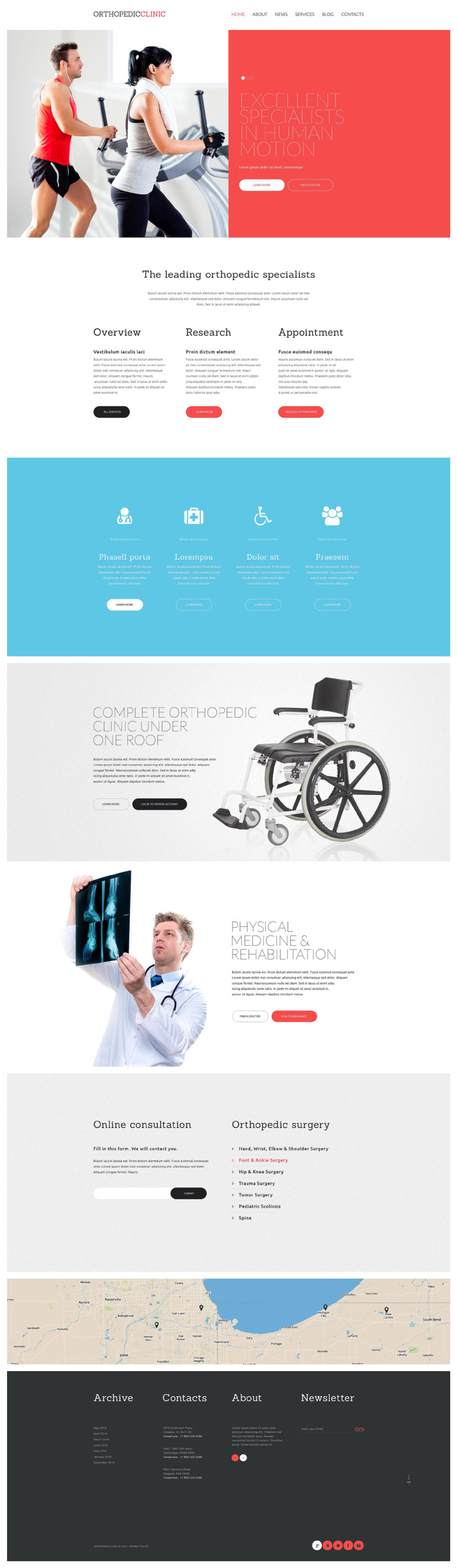 Orthopaedic Clinic Website Template New Screenshots BIG