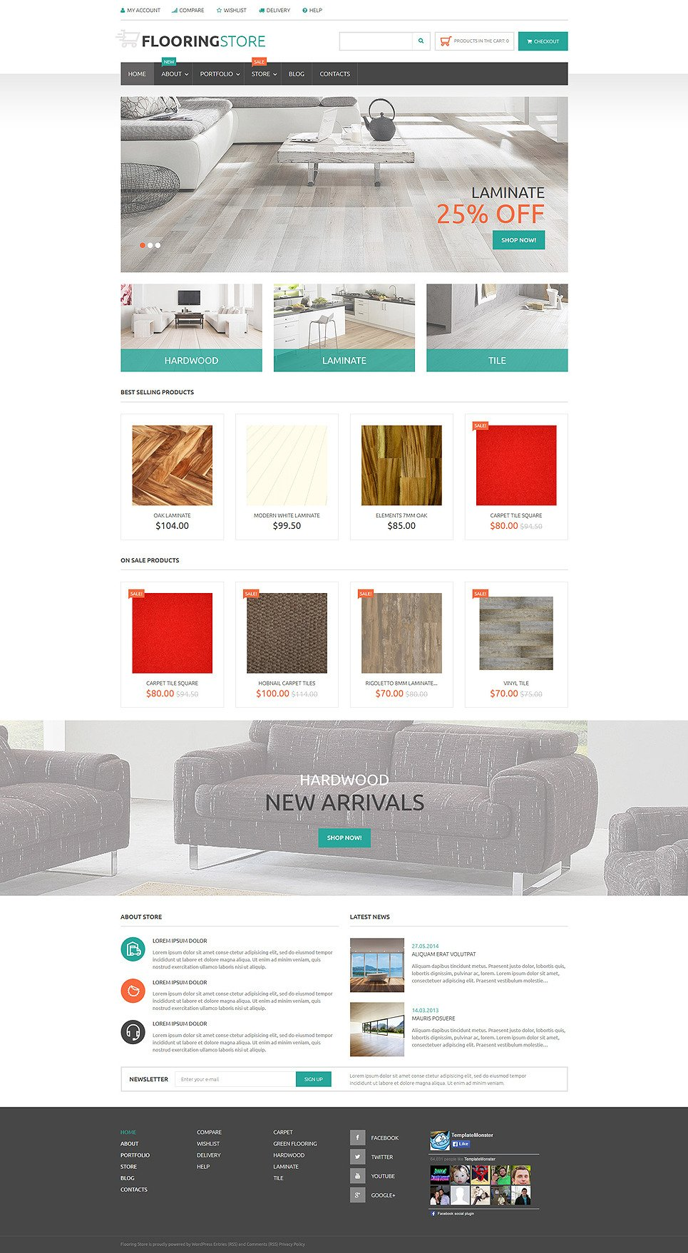 Parquet Online Store WooCommerce Theme New Screenshots BIG