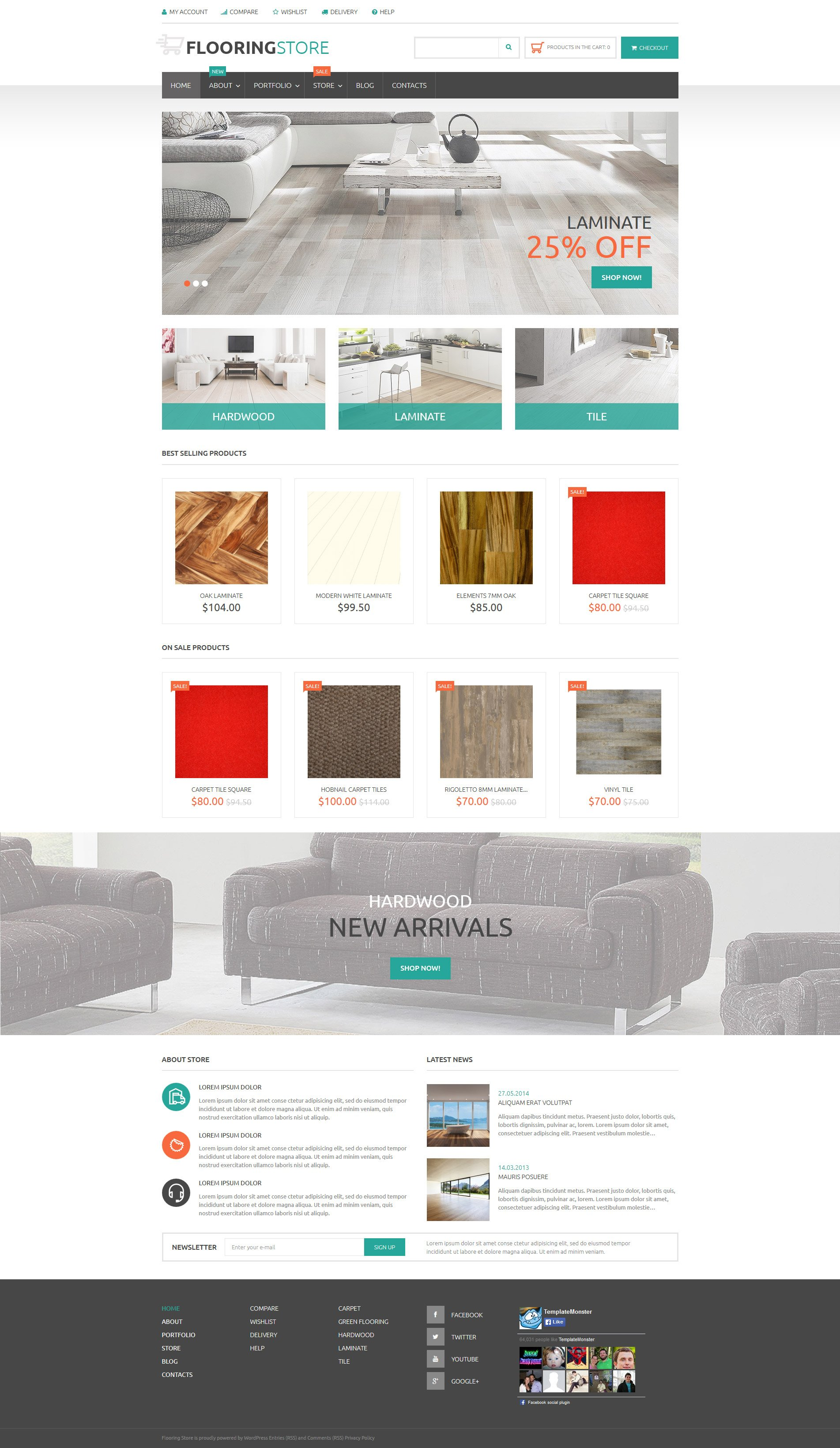 flooring woocommerce template