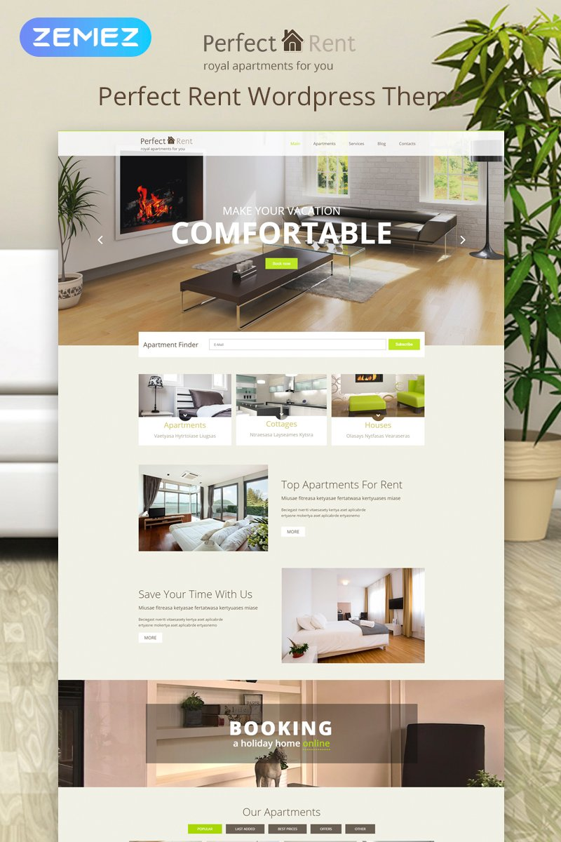 Perfect Rent WordPress Theme - screenshot