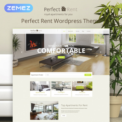 Perfect Rent - WordPress Template based on Bootstrap
