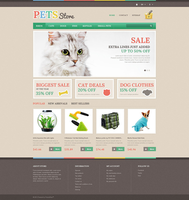 Pets Store PrestaShop Theme New Screenshots BIG