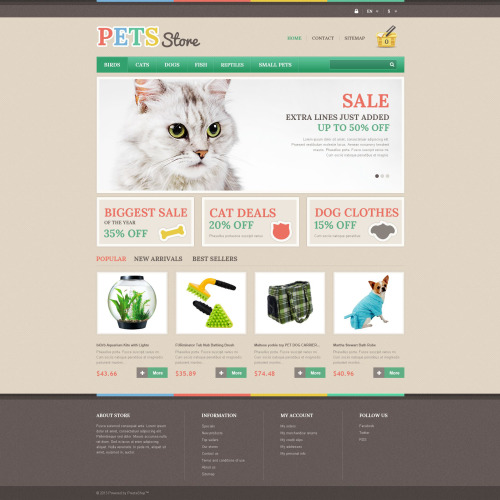Pets Store - PrestaShop Template based on Bootstrap