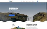 Plantilla Web para Sitio de Agua