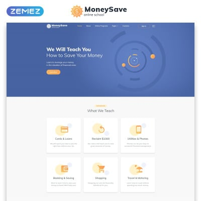 Responsive Plantilla Web #53705 para Sitio de  para Sitio de Bancos