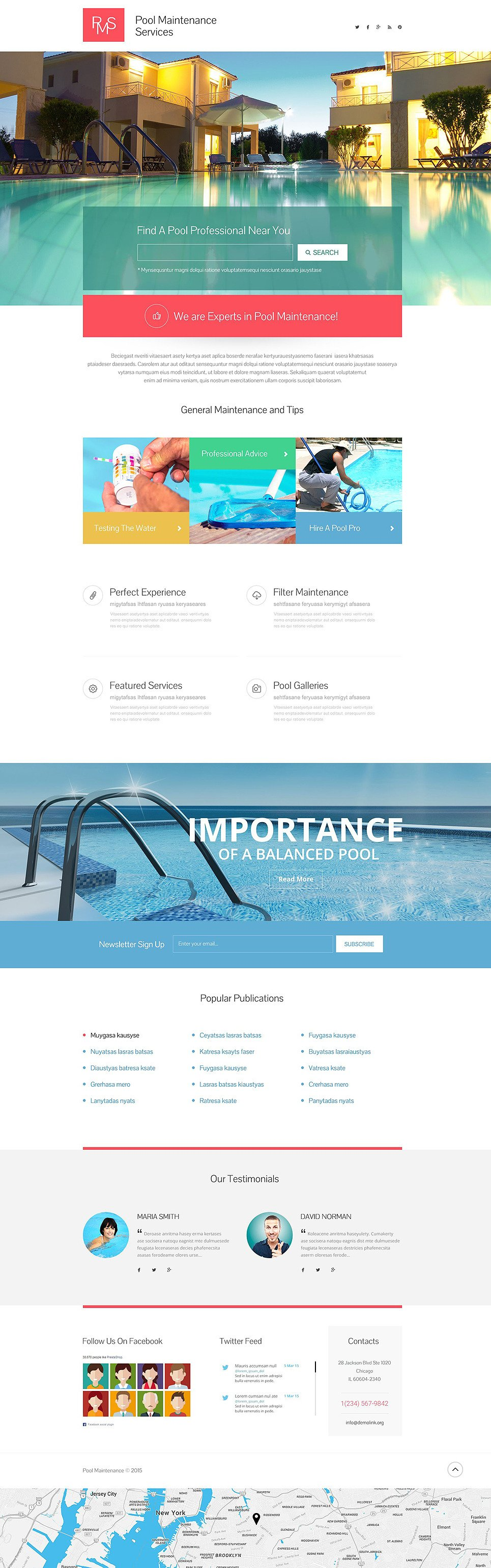Pool Cleaning Responsive Landing Page Template New Screenshots BIG