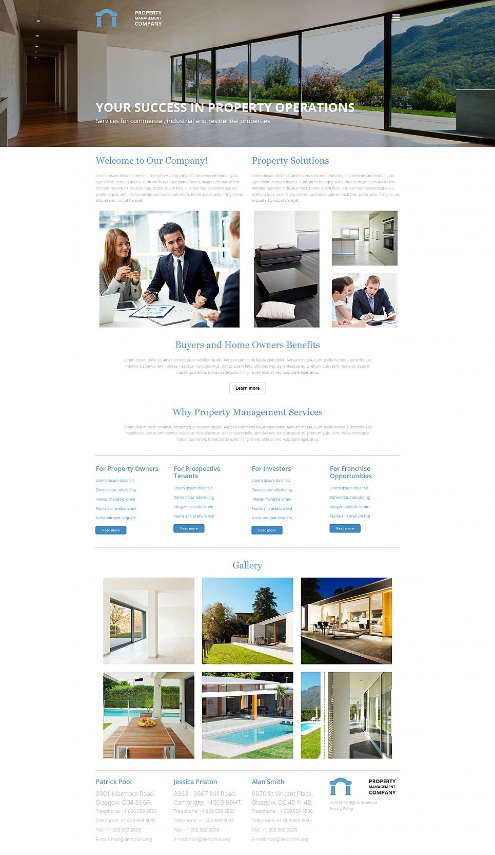 property management website templates
