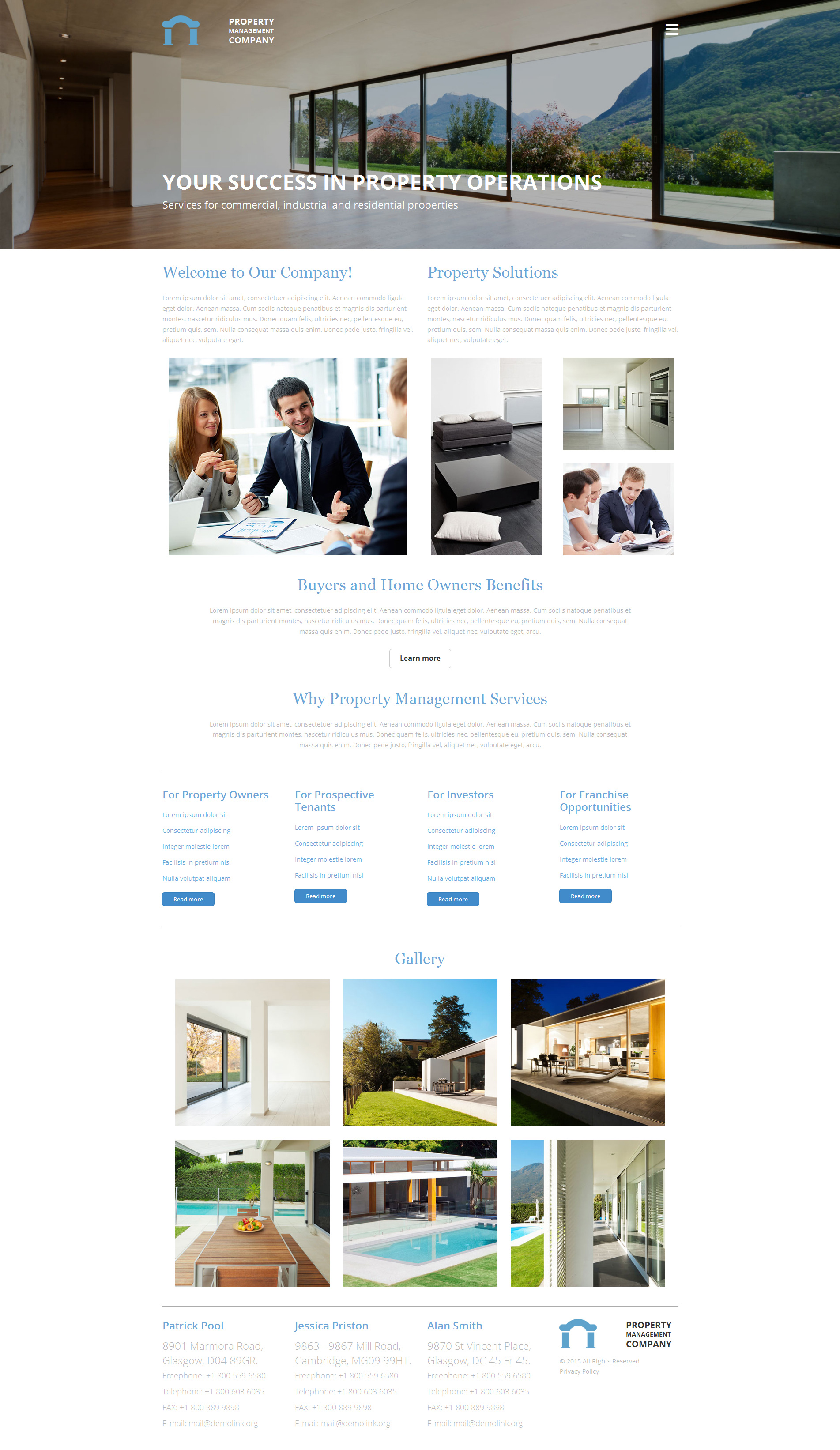 Property Management Responsive Moto CMS 3 Template
