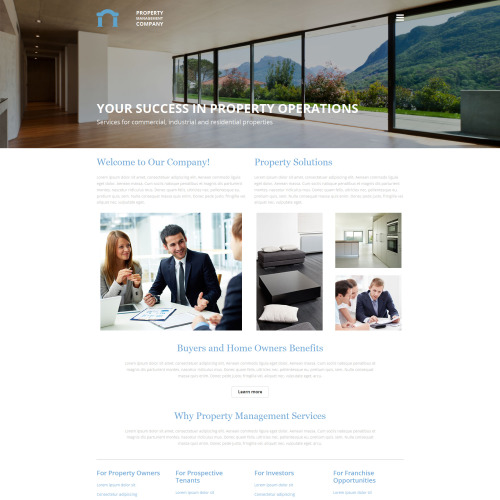 Property Management Company - MotoCMS 3 Template based on Bootstrap