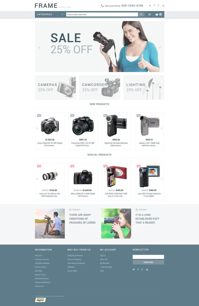 Recording Equipment Magento Theme New Screenshots BIG