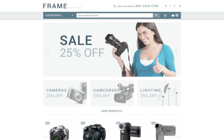Recording Equipment Magento Theme