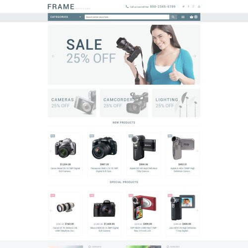 Frame - Magento Template based on Bootstrap