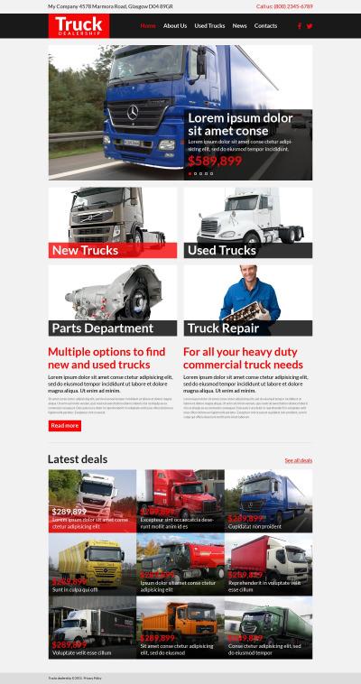 Trucking Responsive Web Sitesi Şablonu