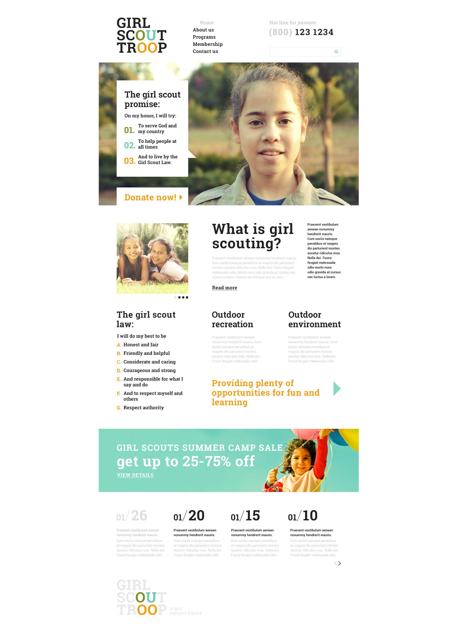 Website Vorlage #53706 für Pfadfinder