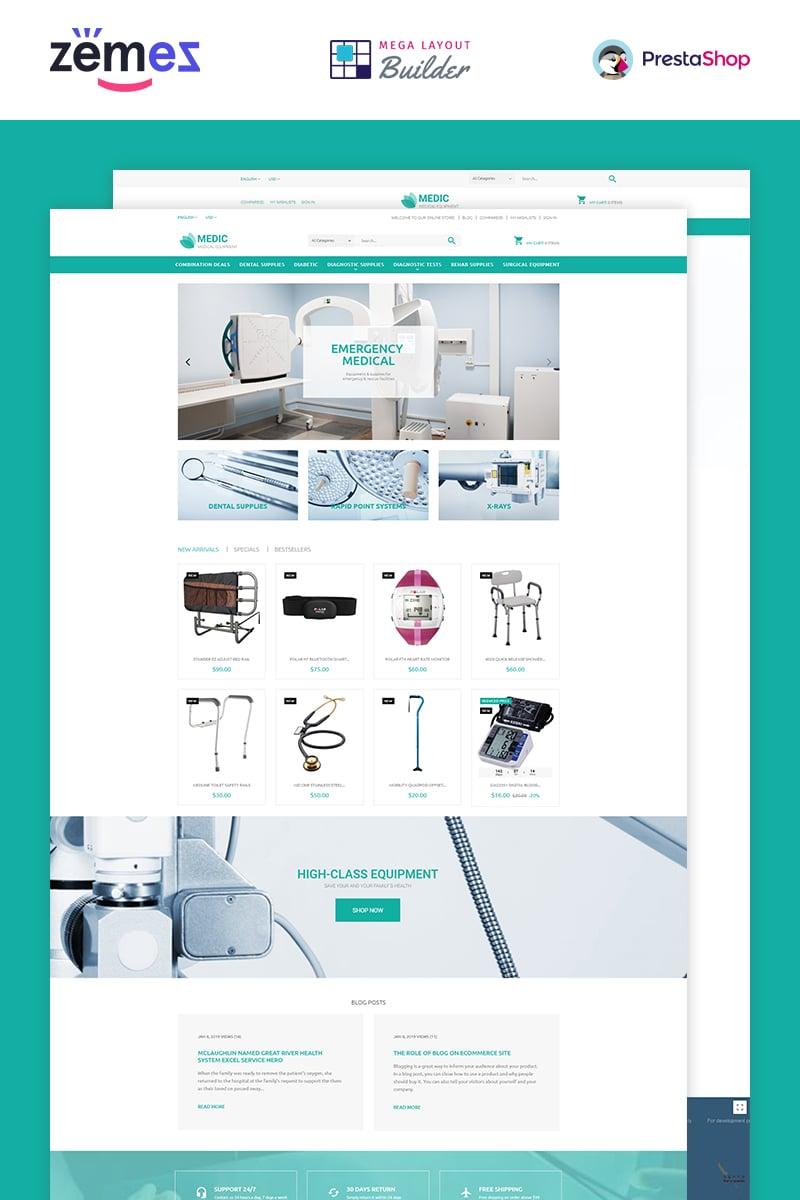 Responsivt Medical Equipment PrestaShop-tema #53790