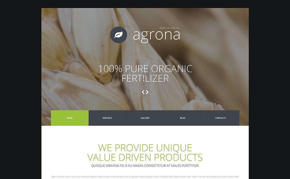Responsywny szablon Joomla Firma Rolnicza #53784 New Screenshots BIG
