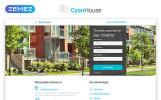 Reszponzív Cyan House - Real Estate Agency Classic HTML Nyítóoldal sablon
