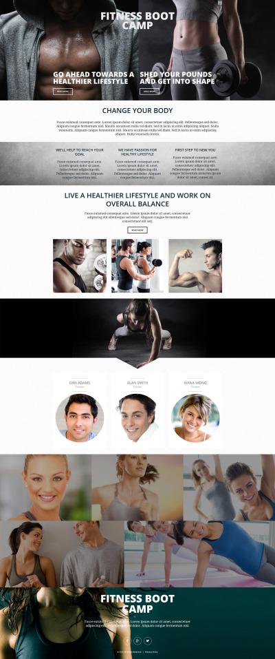 Fitness Responsive Moto CMS 3 Sablon
