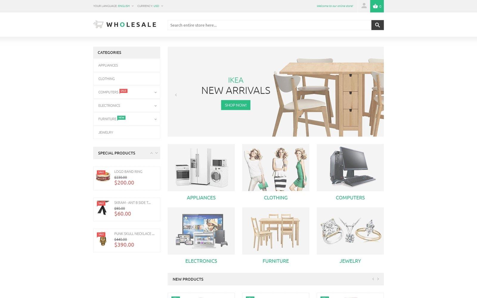Reszponzív Online Warehouse Magento sablon 53792