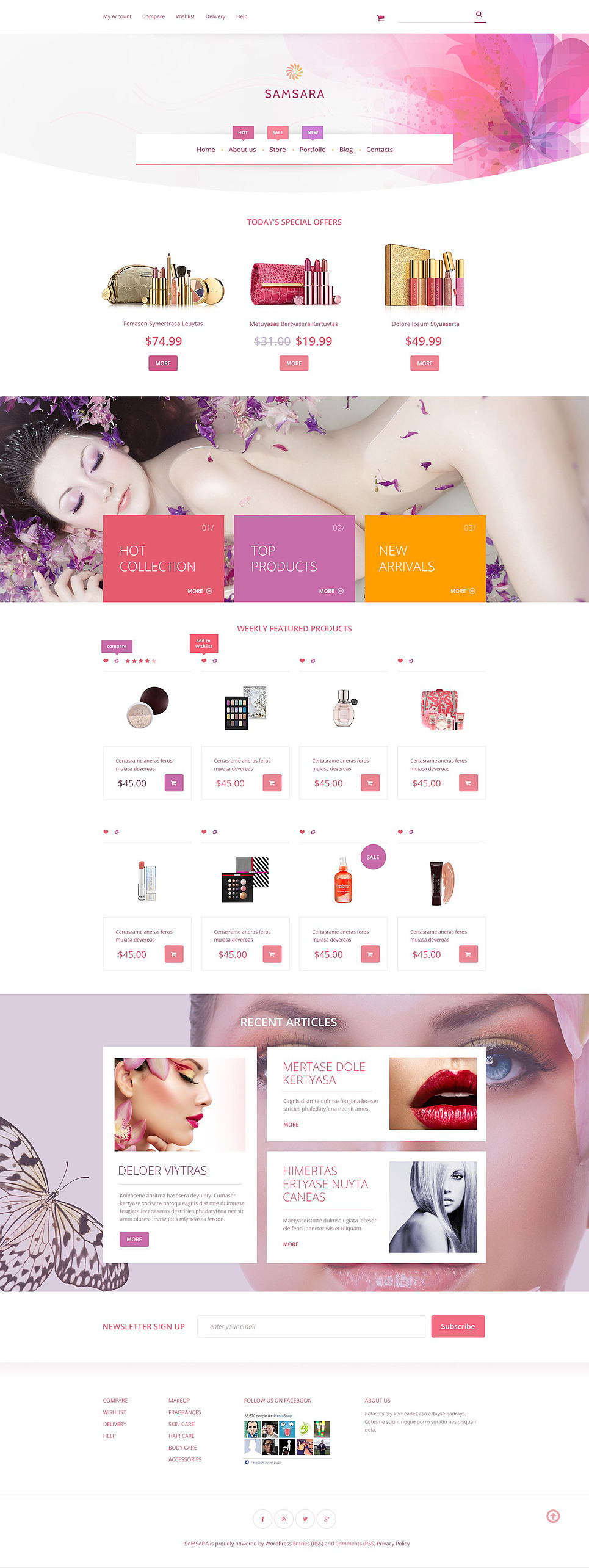 Samsara WooCommerce Theme New Screenshots BIG