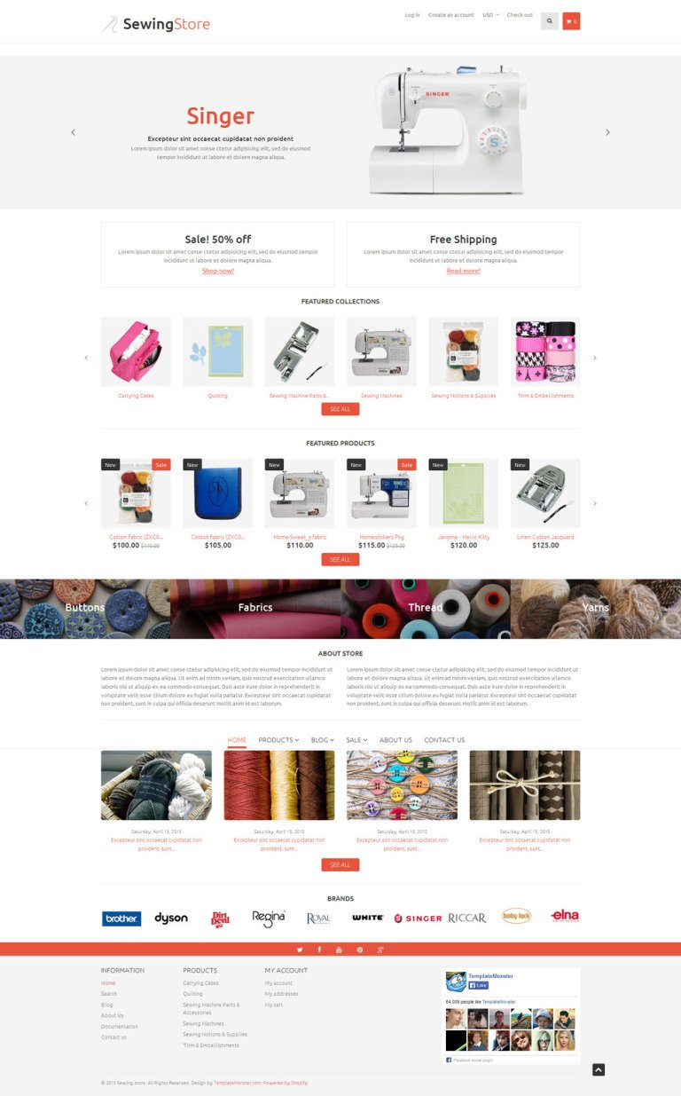 Sewing Items Shopify Theme New Screenshots BIG