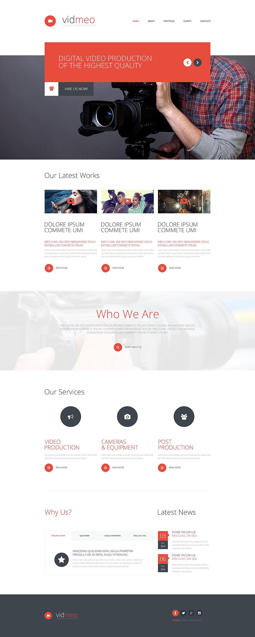 Video Studio Web Template