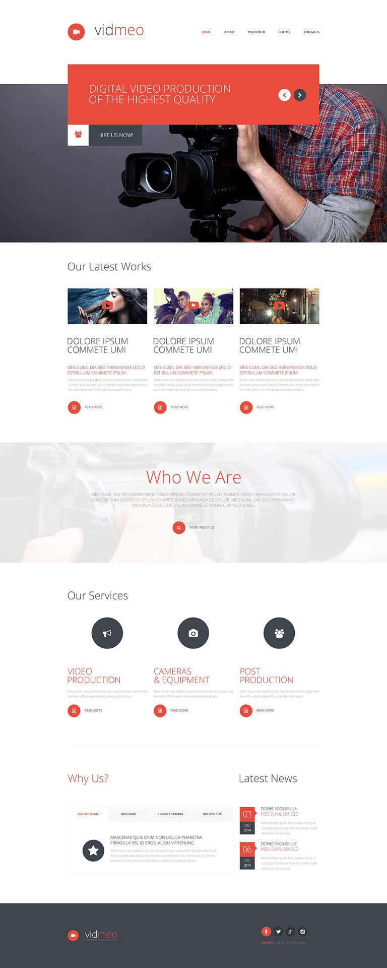 Solutions for Video Studio Website Template New Screenshots BIG