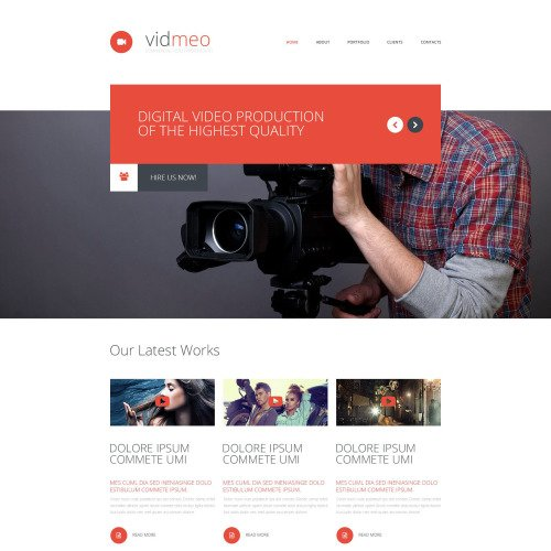 Vidmeo - Responsive Website Template