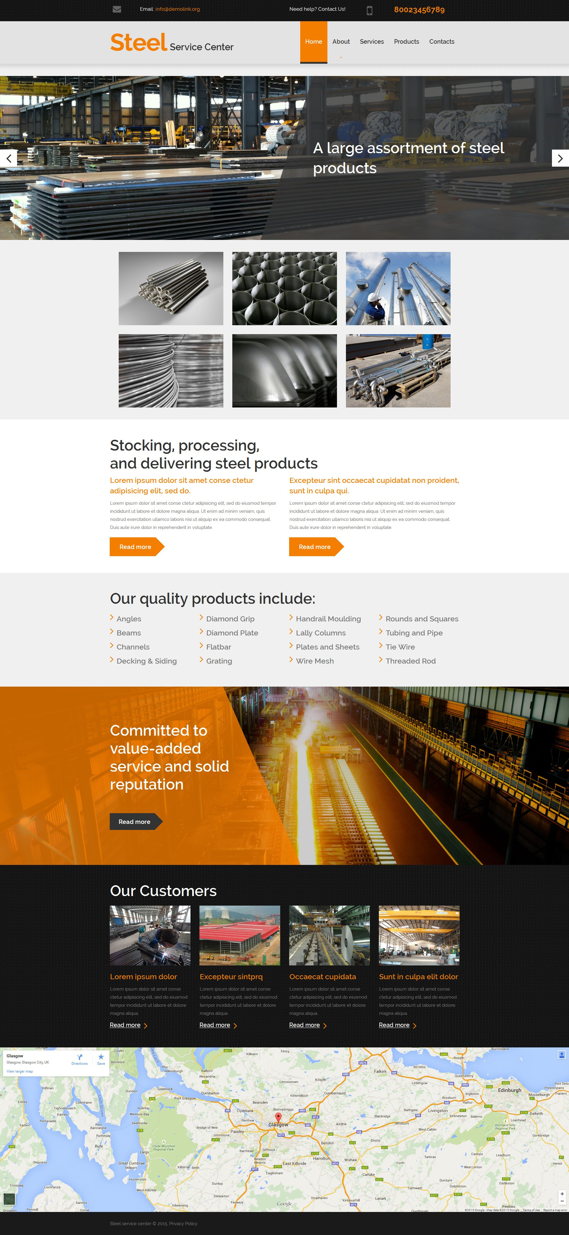 Steelworks Responsive Moto CMS 3 Template - screenshot