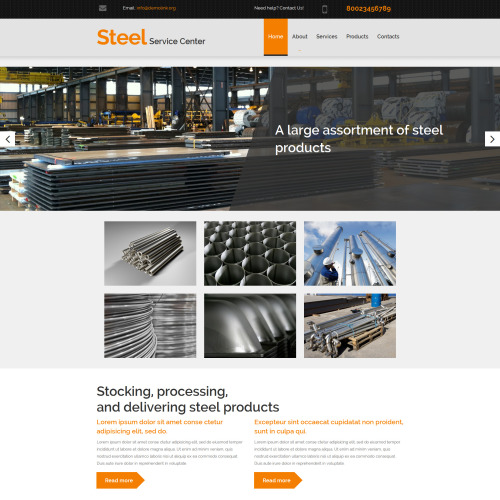 Steel Service Center - MotoCMS 3 Template based on Bootstrap