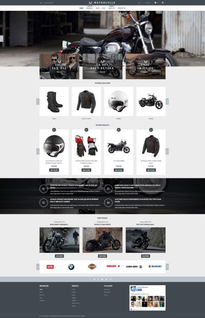 Responsive Tema Shopify #53768 para Sitio de  para Tienda de Motos