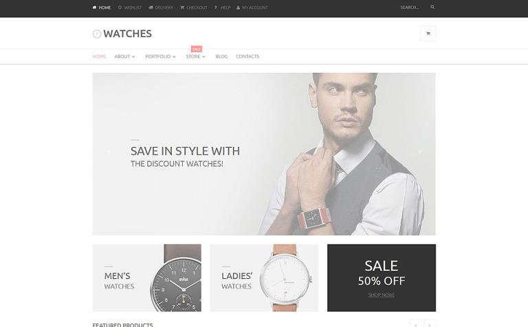 Tema WooCommerce #53780 para Sitio de Relojes
