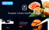 "Tema WordPress Responsive #53766 ""European Cuisine"" New Screenshots BIG"