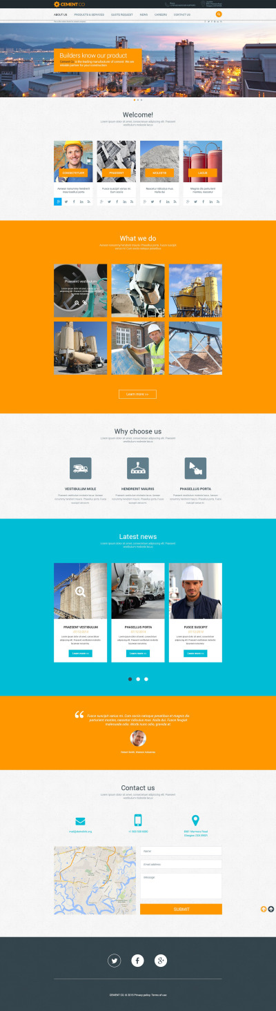 Cement Responsive Template Siti Web