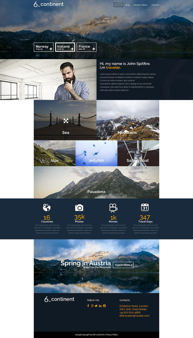 6th Continent WordPress Theme New Screenshots BIG