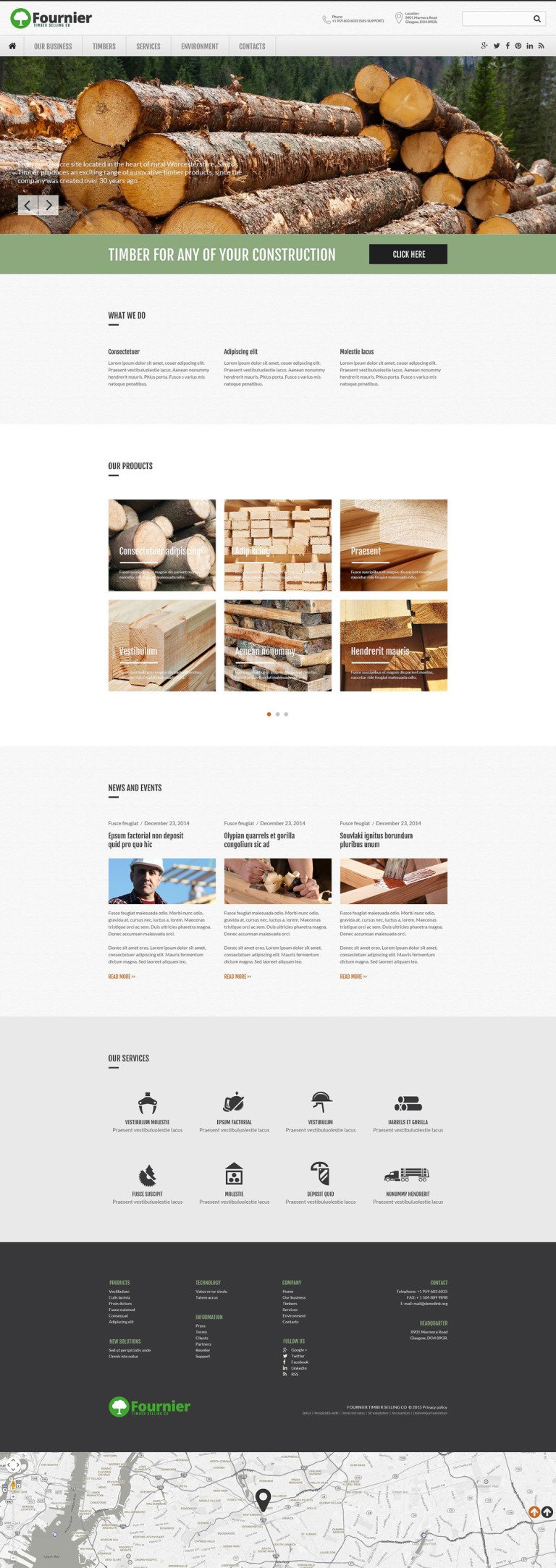 Timber Selling Company Website Template New Screenshots BIG