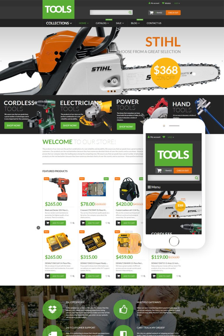 Tools Equipment Shopify Theme New Screenshots BIG