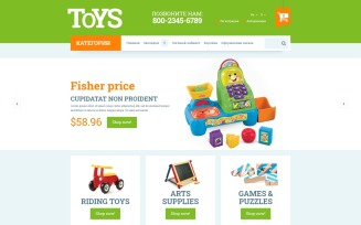 Toys for Kids OpenCart Template