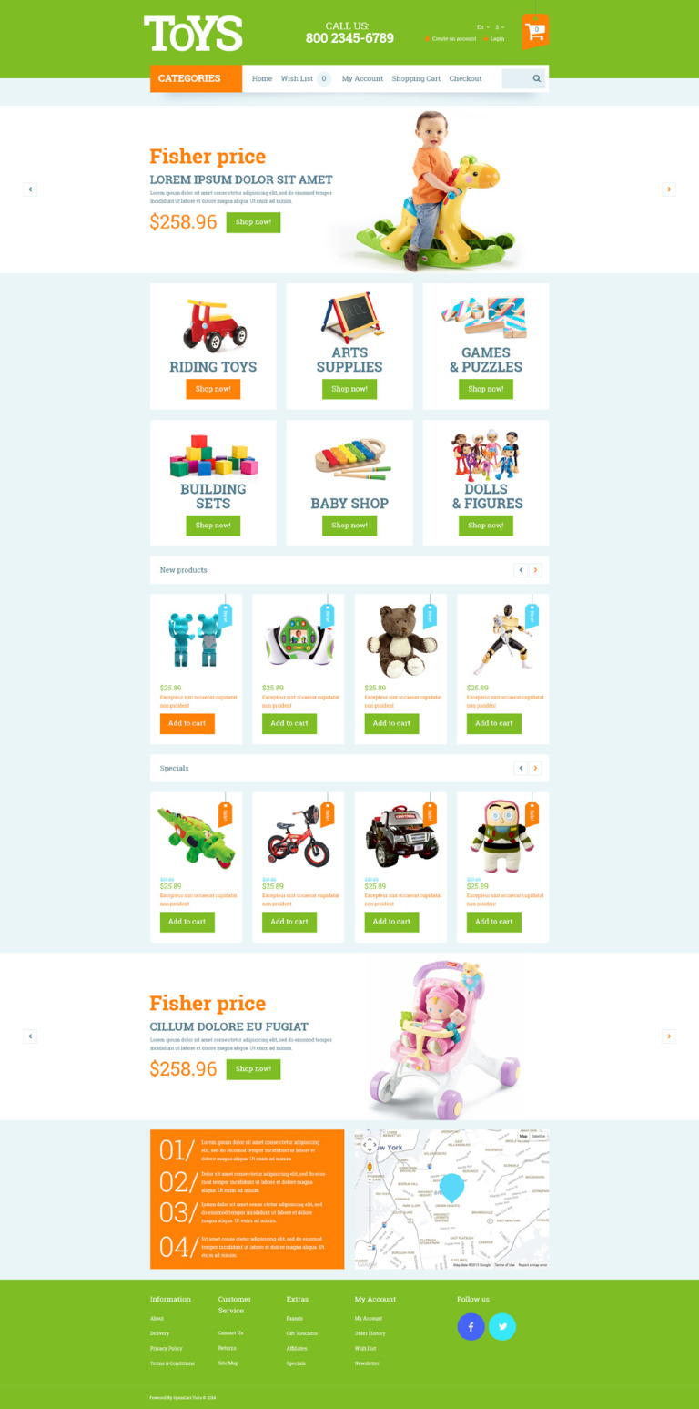 Toys for Kids OpenCart Template New Screenshots BIG