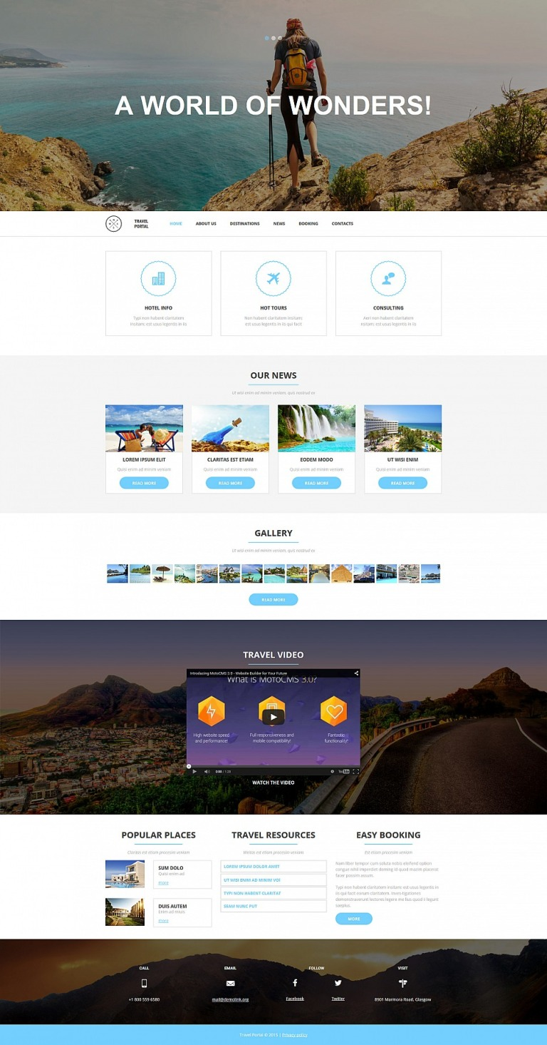 Travel Responsive Moto CMS 3 Template New Screenshots BIG