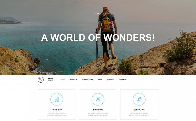 Travel Responsive Moto CMS 3 Template