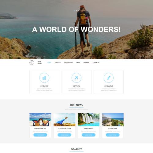 Travel Portal - MotoCMS 3 Template based on Bootstrap