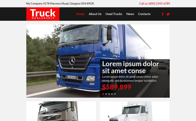 Trucking Responsive Website Template #53772