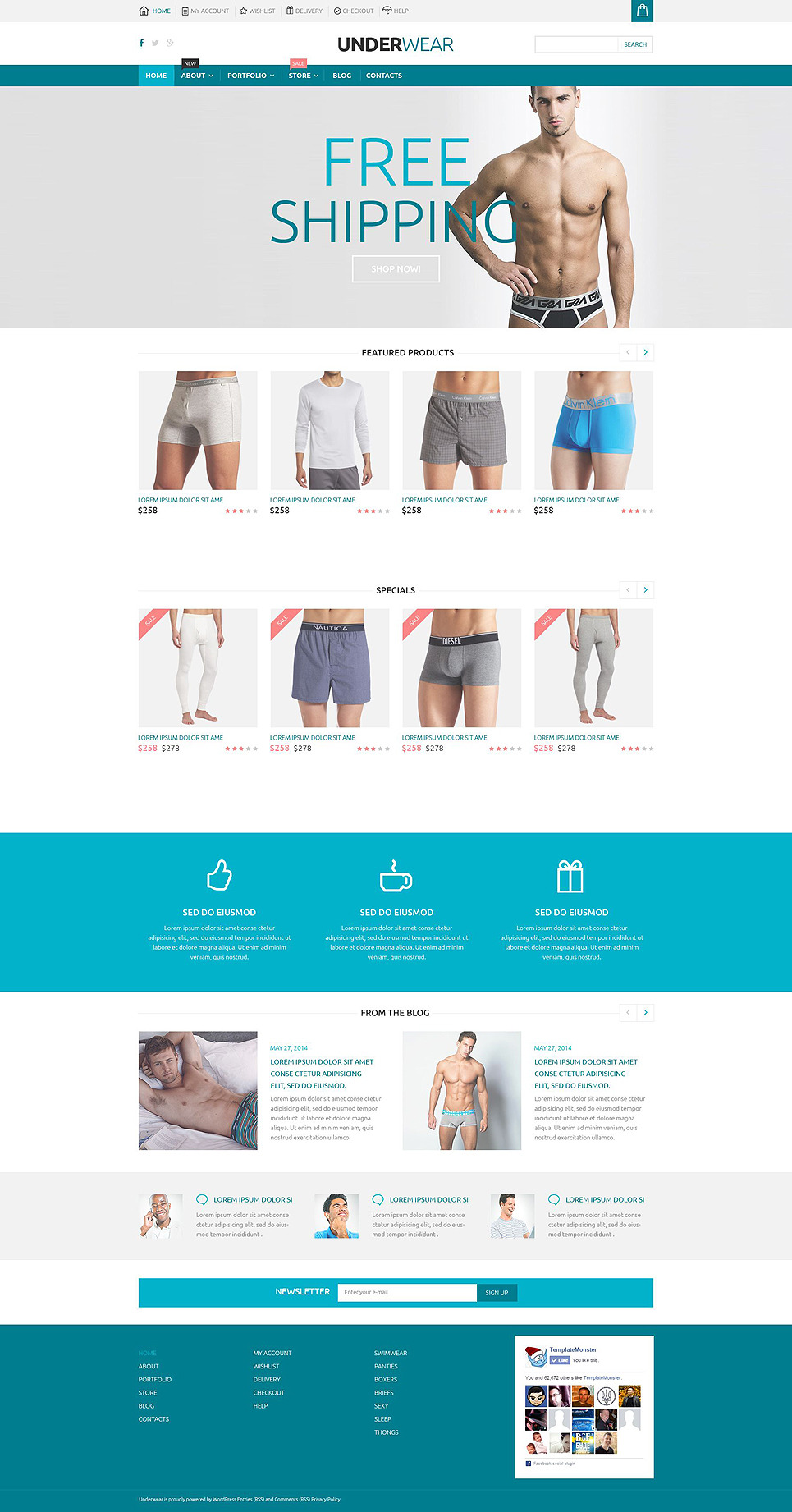 Underwear Store WooCommerce Theme New Screenshots BIG