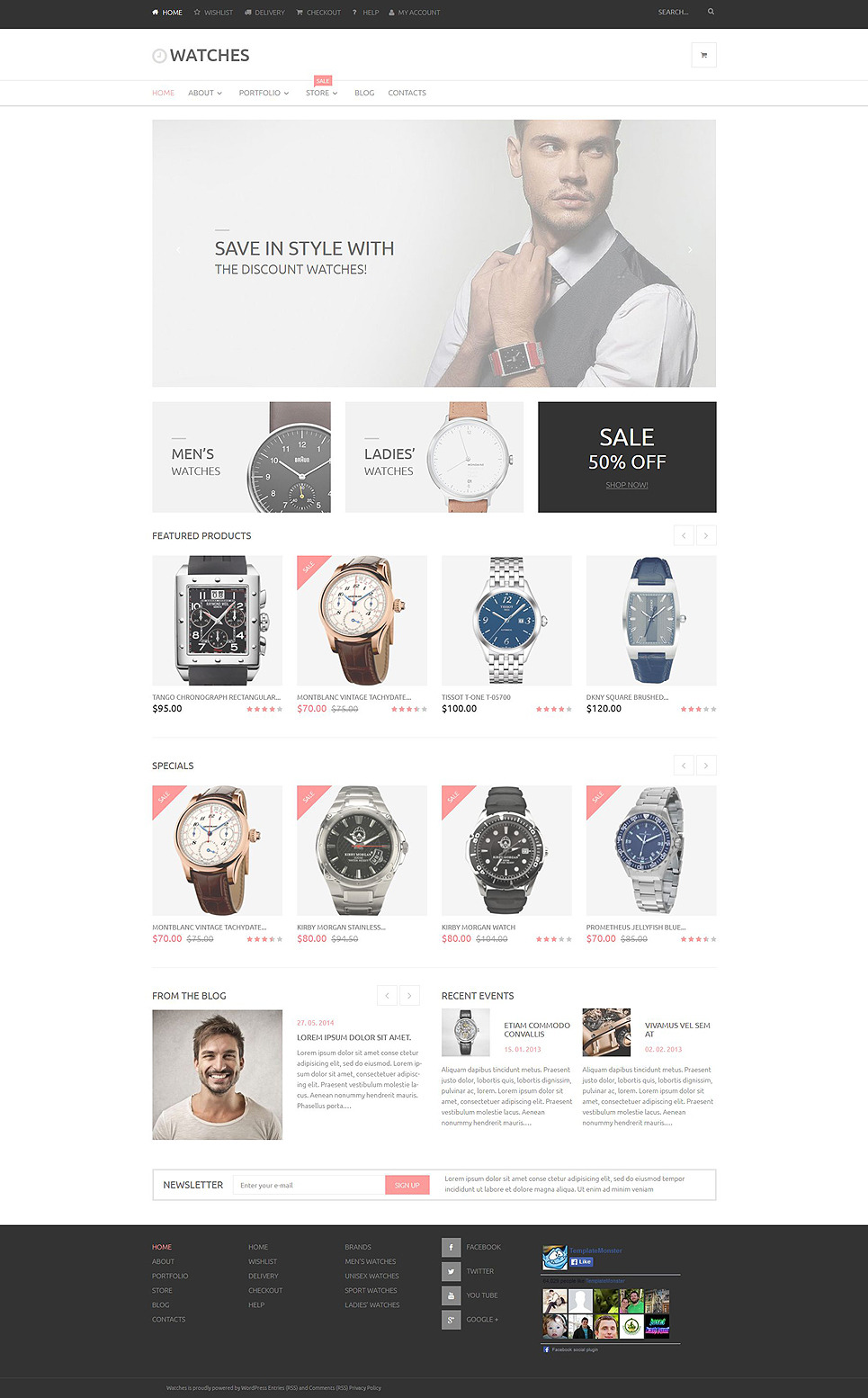 Watches Online Store WooCommerce Theme New Screenshots BIG